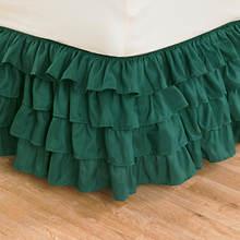 Ruffle Bed Skirt - Hunter Green