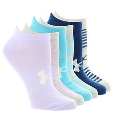 Under Armour Women's Essential Season Mix No Show Socks