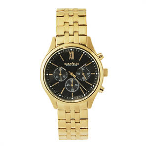 Caravelle Men's Goldtone Chronograph Watch