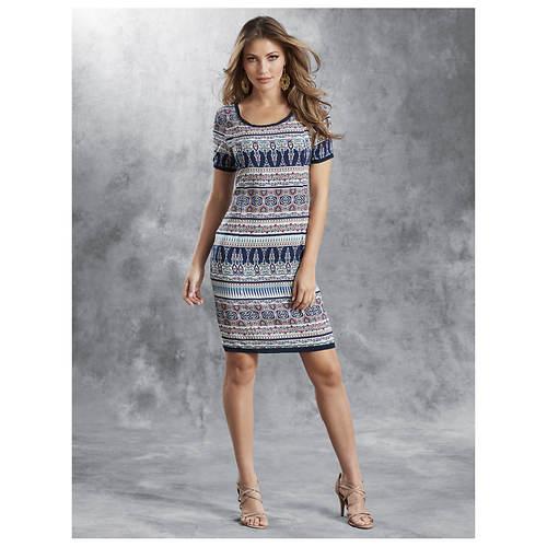 Ikat Sheath Dress