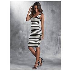 Rib Stripe Tank Dress