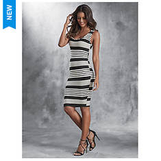 Rib Stripe Tank Dress