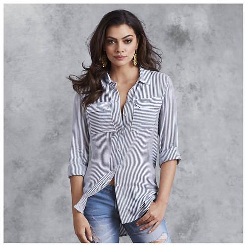 Buttoned Boyfriend Shirt