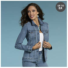 Rhinestone Embellished Denim Jacket