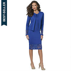 Cutout Sheath Dress & Jacket