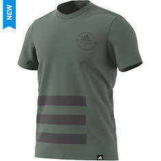 adidas Men's Badge Of Sport Side 3-Stripes Tee