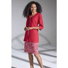 Printed Sheath Dress & Jacket