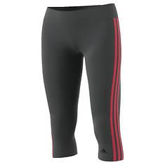 adidas Women's Designed-2-Move 3-Stripes Three-Quarter Tight