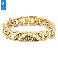 Lord's Prayer Stainless Steel Curb Bracelet