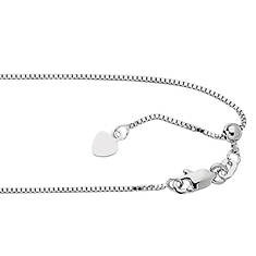 Sterling Silver Adjustable Box Chain