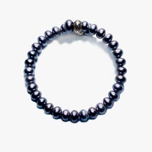 Button Pearl Spiral Bracelet