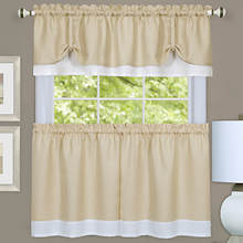 Darcy Tier and Valance Set - Tan