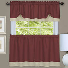 Darcy Tier and Valance Set - Marsala