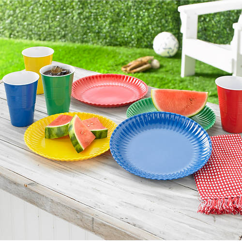 Melamine Picnic Set - 8 Pc. Plate and Cup Set