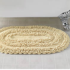 Racetrack Chenille Rug - Ivory