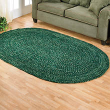 Chenille Reversible Braided Rug - 5'x 8' - Emerald