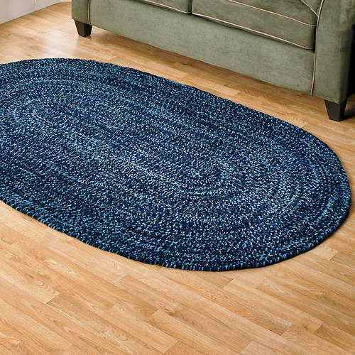 Chenille Reversible Braided Rug - 5'x 8'