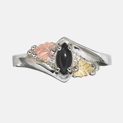 Black Hills Gold Marquise Black Onyx