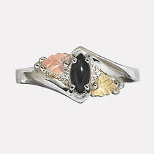 Black Hills Gold Marquise Black Onyx