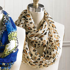 Animal Print Infinity Scarves - Jungle