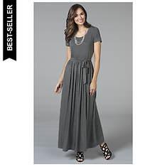 Women's Heathered Knit Maxidress