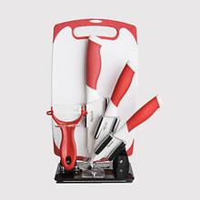 6-Pc. Ceramic Knife Set - Red