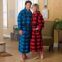 Buffalo Plaid Robe - Blue