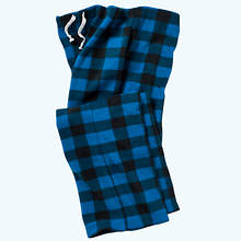 Buffalo Plaid Pants - Blue