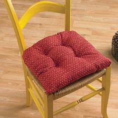 Raindrops Chair Cushions - Barn Red