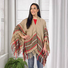 Jessca McClintock Plaid Wrap - Camel