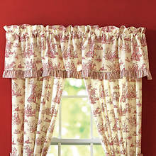 Toile Valance - Red