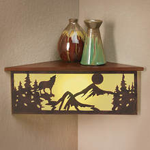 Corner LED Shelf with Remote - Wolf