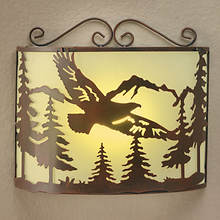 Corner LED Sconce with Remote - Eagle