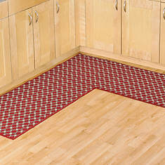 Diamond L Shaped Utility Rug - Brick