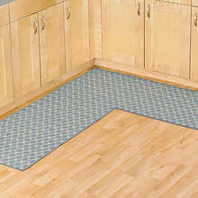 Diamond L Shaped Utility Rug - Blue
