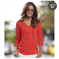 Lace-It-Up Blouse
