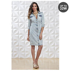 Acid Wash Denim Dress