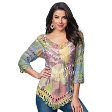 Watercolor Crochet Top