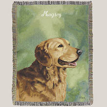 Personalized Dog Breed Tapestry Throw - Golden Retriever