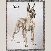 Personalized Dog Breed Tapestry Throw - Great Dane