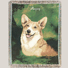 Personalized Dog Breed Tapestry Throw - Welsh Corgi