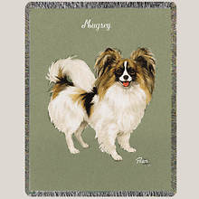 Personalized Dog Breed Tapestry Throw - Papillion