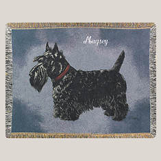 Personalized Dog Breed Tapestry Throw - Scottie