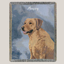 Personalized Dog Breed Tapestry Throw - Yellow Lab