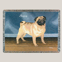 Personalized Dog Breed Tapestry Throw - Pug