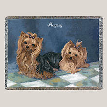 Personalized Dog Breed Tapestry Throw - Yourkie