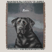 Personalized Dog Breed Tapestry Throw - Black Lab