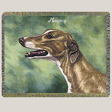 Personalized Dog Breed Tapestry Throw - Greyhound
