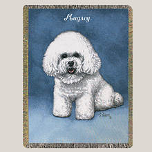Personalized Dog Breed Tapestry Throw - Bichon