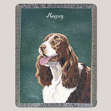 Personalized Dog Breed Tapestry Throw - Springer Spaniel